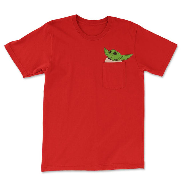 Baby Yoda Pocket T-Shirt Mens T-Shirt - Textual Tees