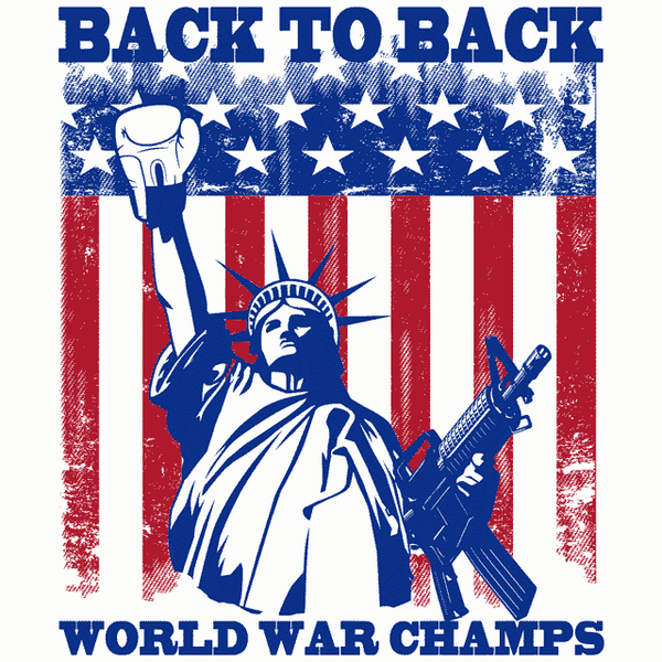 68767ed19eee Back To Back World War Champs T-Shirt | Textual Tees
