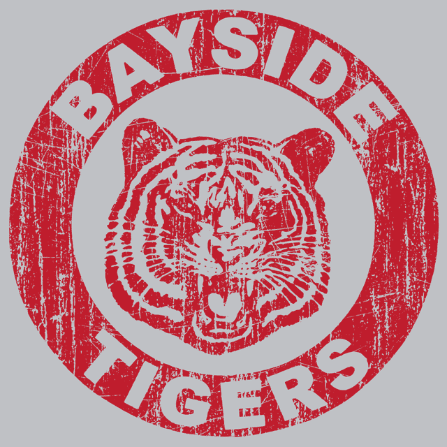 Bayside Tigers T Shirt Saved By The Bell Textual Tees
