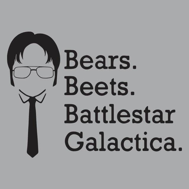 Bears Beets Battlestar Galactica Womens T-Shirt - Textual Tees