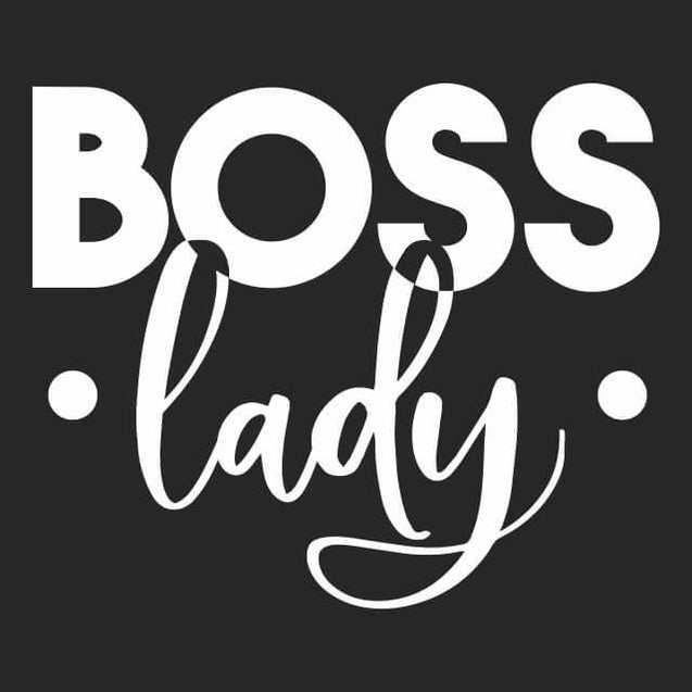 Boss Lady Womens T-Shirt Womens T-Shirt - Textual Tees