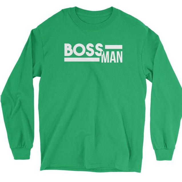 Boss Man Long Sleeve T-Shirt Longsleeve T-Shirt - Textual Tees