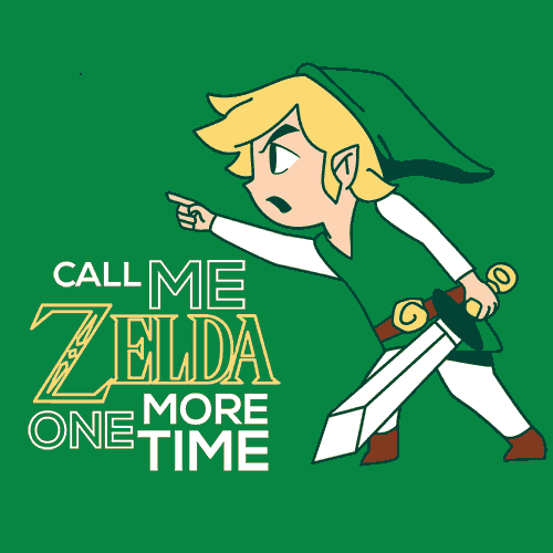Call Me Zelda One More Time T-Shirt Mens T-Shirt - Textual Tees