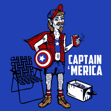 Captain 'Merica T-Shirts - Textual Tees