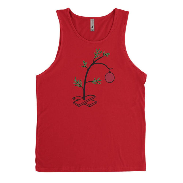 Charlie Brown Christmas Tree Mens Tanktop Mens Tanktop - Textual Tees