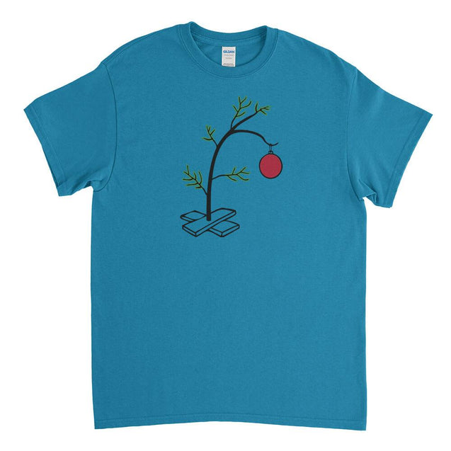 Charlie Brown Christmas Tree Mens T-Shirt Mens T-Shirt - Textual Tees
