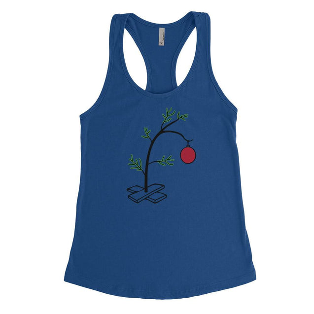 Charlie Brown Christmas Tree Womens Tanktop Womens Tanktop - Textual Tees