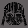 Darth Vader Typography T-Shirt Mens T-Shirt - Textual Tees