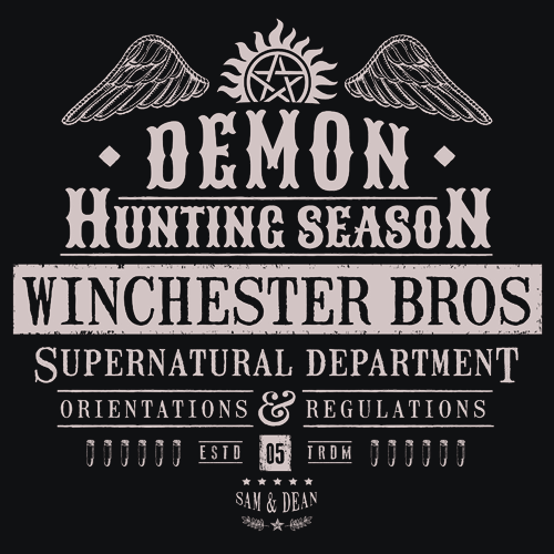 Demon Hunting Season T-Shirt Mens T-Shirt - Textual Tees