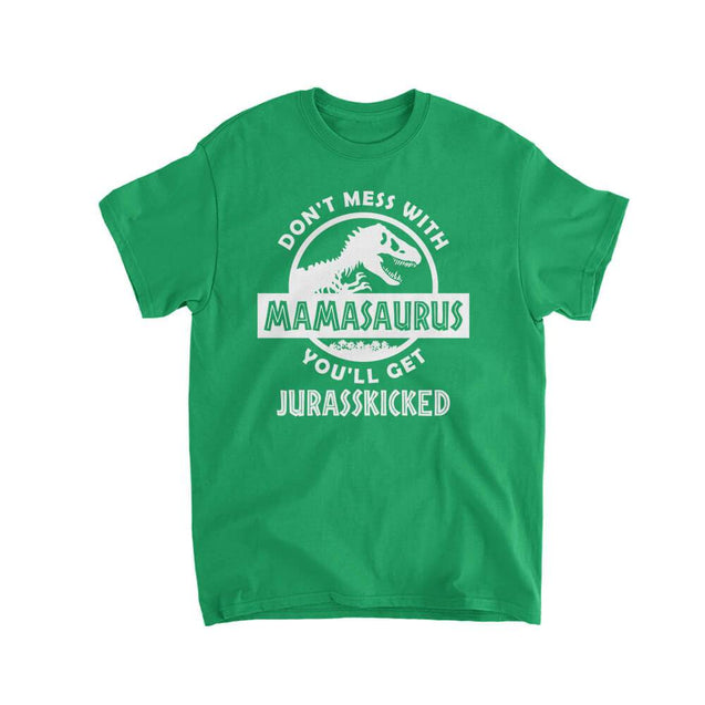 Don't Mess With Mamasaurus Kids T-Shirt Kids T-Shirt - Textual Tees