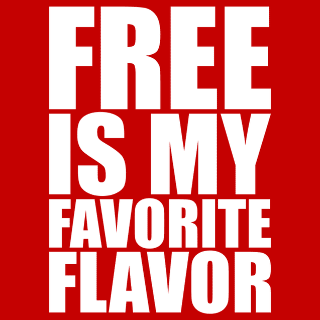 Free Is My Favorite Flavor T-Shirt Mens T-Shirt - Textual Tees