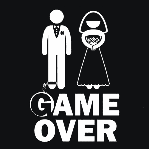 Marriage Game Over T-Shirt Bachelor Party
