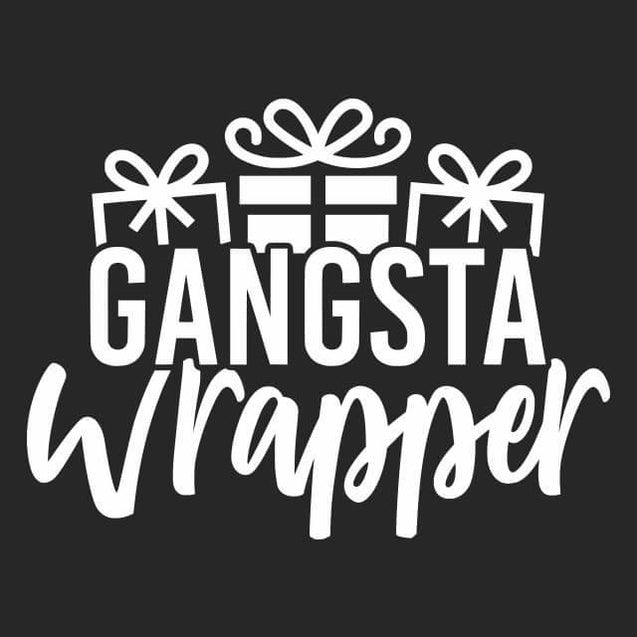 Gangsta Wrapper Sweatshirt Sweatshirt - Textual Tees