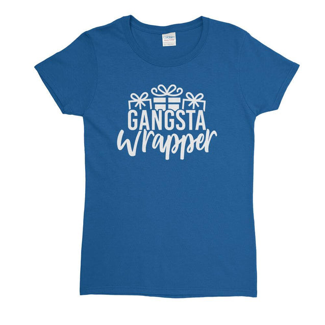 Gangsta Wrapper Womens T-Shirt Womens T-Shirt - Textual Tees
