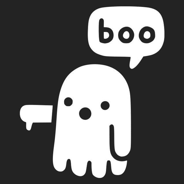 Ghost Says Boo T-Shirt Mens T-Shirt - Textual Tees