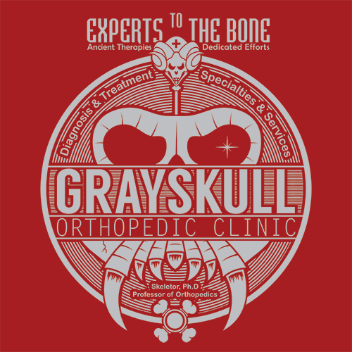 Grayskull Experts To The Bone T-Shirt Mens T-Shirt - Textual Tees