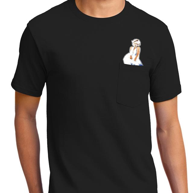 Hairy Monroe Pocket T-Shirt