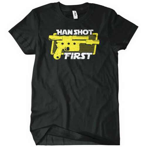Han Shot First T-Shirt Mens T-Shirt - Textual Tees