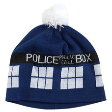 Hats - Tardis Blue Box Beanie Dr Who Doctor