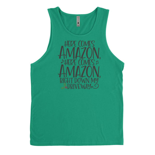 Here Comes Amazon Mens Tanktop Mens Tanktop - Textual Tees