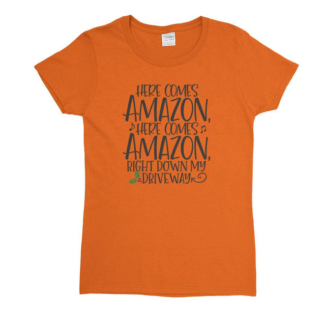 Here Comes Amazon Womens T-Shirt Womens T-Shirt - Textual Tees