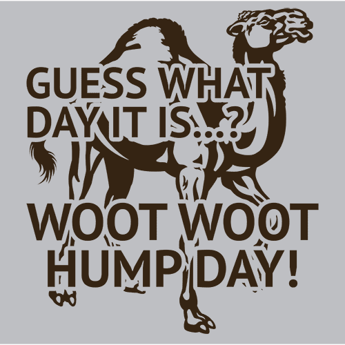 Guess What Day It Is Woot Woot Hump Day T-Shirts - Textual Tees