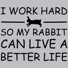 I Work Hard So My Rabbit Can Live A Better Life