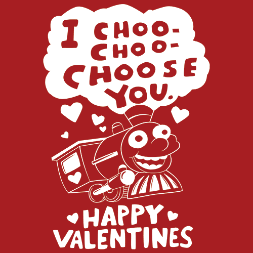 I Choo Choo Choose You T Shirt Valentines Day Textualtees