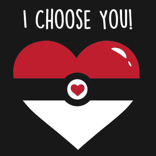 I Choose You Valentines Day T-Shirt Mens T-Shirt - Textual Tees