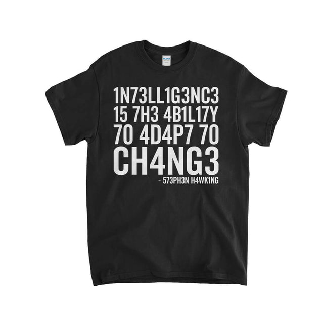 Intelligence Stephen Hawking Kids T-Shirt Kids T-Shirt - Textual Tees