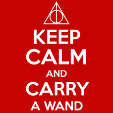 Keep Calm and Carry A Wand Harry Potter