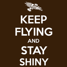 Keep Flying and Stay Shiny T-Shirts - Textual Tees