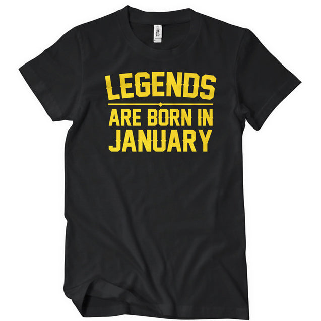 Legends Are Born In January T-Shirt Mens T-Shirt - Textual Tees