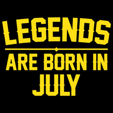 Legends Are Born In July T-Shirts - Textual Tees