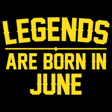 Legends Are Born In June T-Shirts - Textual Tees
