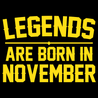 Legends Are Born In November T-Shirt Mens T-Shirt - Textual Tees