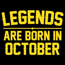 Legends Are Born In October T-Shirts - Textual Tees