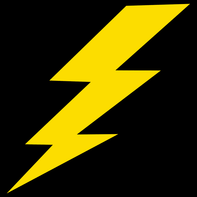 Lightning Bolt Camera Flash