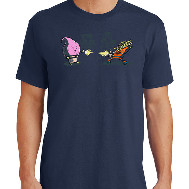 DBZ Food Fight T-Shirt Mens T-Shirt - Textual Tees
