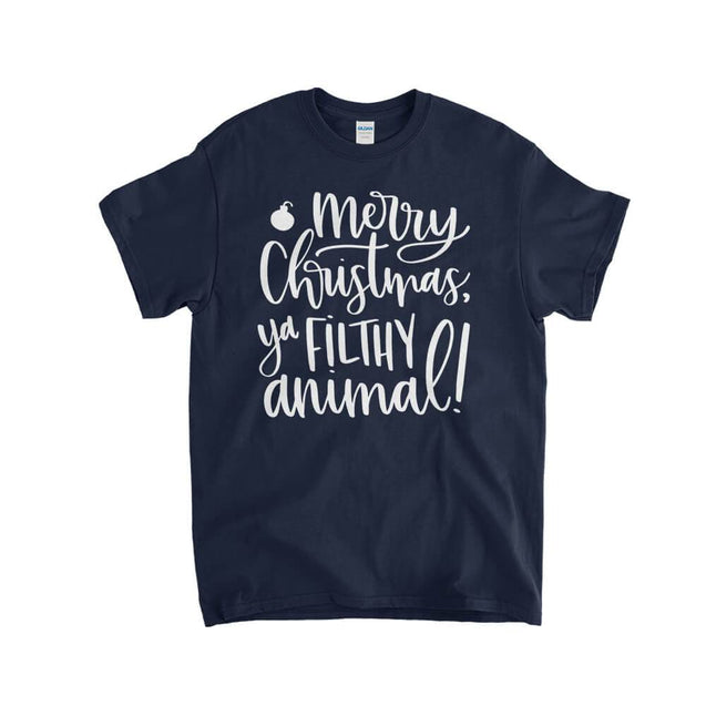 Merry Christmas Ya Filthy Animal Kids T-Shirt Kids T-Shirt - Textual Tees