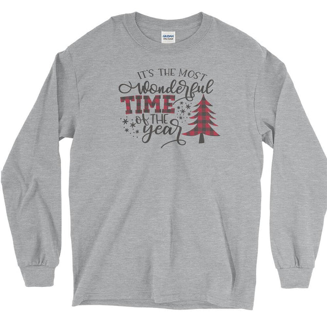 Most Wonderful Time of The Year Long Sleeve T-Shirt Longsleeve T-Shirt - Textual Tees