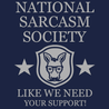 National Sarcasm Society T-Shirt Mens T-Shirt - Textual Tees