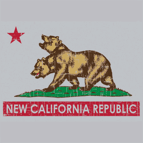 New california republic t shirt fallout textual tees for Same day t shirt printing las vegas