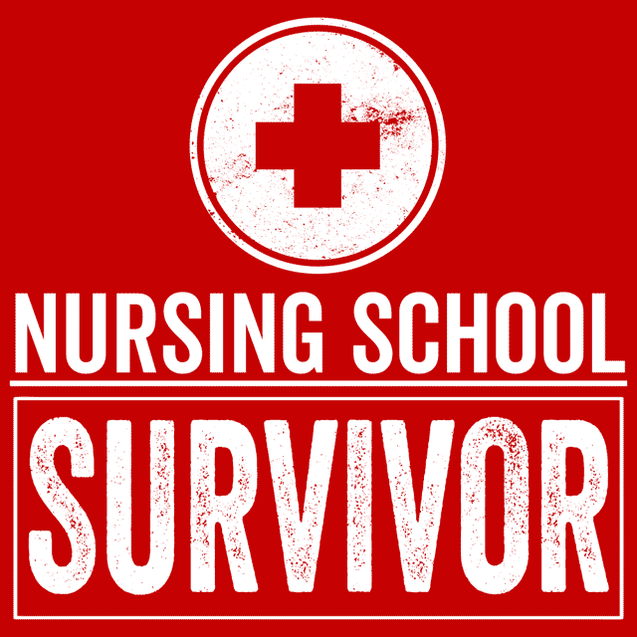 Nursing School Survivor T-Shirt Mens T-Shirt - Textual Tees