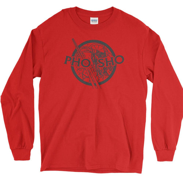 Pho Sho Long Sleeve T-Shirt Longsleeve T-Shirt - Textual Tees
