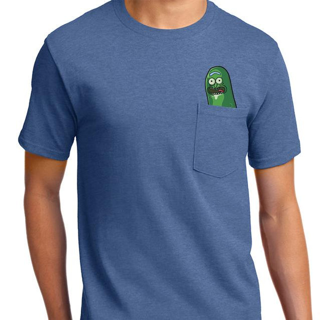 Pickle Rick Pocket T-Shirt Mens T-Shirt - Textual Tees