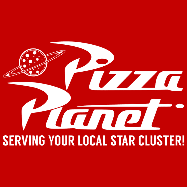 Pizza Planet T-Shirt Mens T-Shirt - Textual Tees