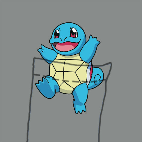 Squirtle Pocket T-Shirt Mens T-Shirt - Textual Tees