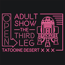 Adult Show The Third Leg R2D2 T-Shirts - Textual Tees