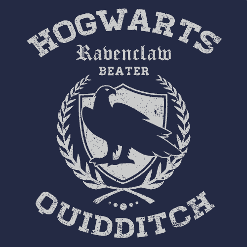 Quidditch Ravenclaw T Shirt Harry Potter Textual Tees